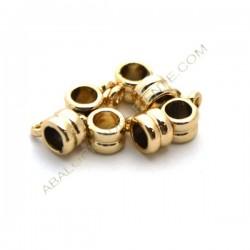 Entrepieza de aleación de Zinc tubo con anilla chapada en oro