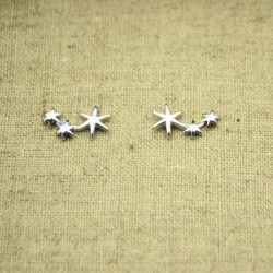 Pendientes de plata 925 tres estrellas