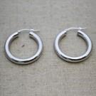 Pendientes de plata 925 aro de 23 mm