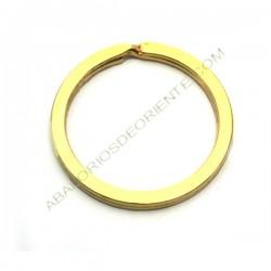 Llavero circular dorado