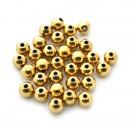 Entrepieza de aleación de Zinc bola lisa chapada en oro de 8 mm
