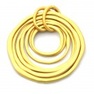 Colgante de aleación de Zinc dorado mate siete aros
