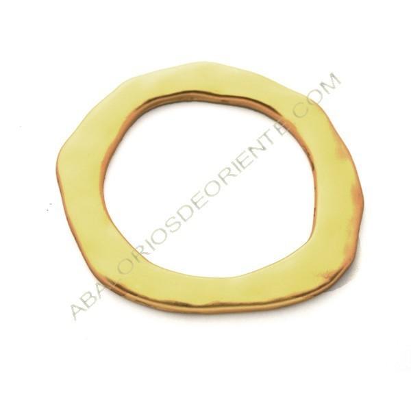 Aro conector de aleación de Zinc dorado mate