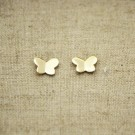 Pendientes de plata 925 chapados en oro mariposa de 9 x 7 mm