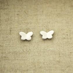 Pendientes de plata 925 mariposa de 9 x 7 mm
