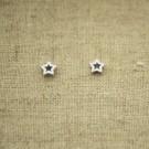 Pendientes de plata 925 estrella hueca de 5 mm