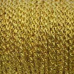 Cadena de hierro color dorado de 2 mm doble encadenado