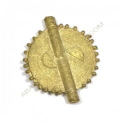 Entrepieza colgante de bronce círculo 52 x 42 x 5 mm