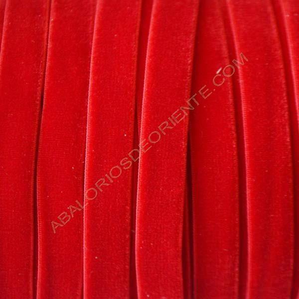 Cinta de terciopelo elástico rojo
