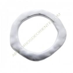 Aro conector de aleación de Zinc plateado mate