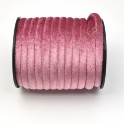 Cinta de terciopelo redondo rosa de 6 mm