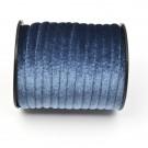 Cinta de terciopelo redondo azul de 6 mm