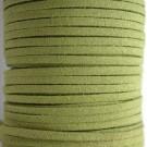 Cordón de antelina verde pistacho 3 x 1.5 mm