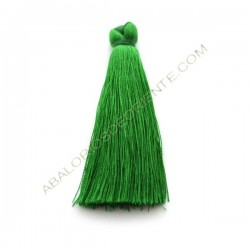Pompón de algodón de 70 mm verde loro