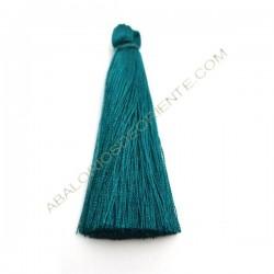 Pompón de algodón de 70 mm azul mar