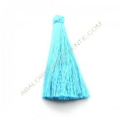 Pompón de algodón de 70 mm azul claro