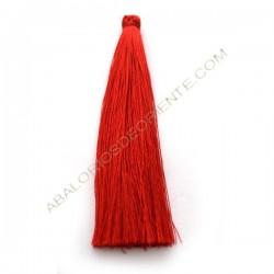 Pompón de algodón de 120 mm rojo