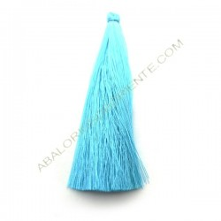 Pompón de algodón de 120 mm azul claro