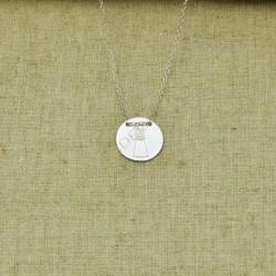 Cadena de plata 925 Comunión con medalla de niña