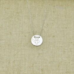 Cadena de plata 925 Comunión con medalla de angelito