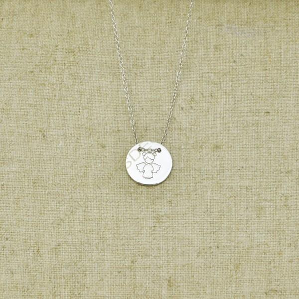 c615b5d47102 Cadena de plata 925 Comunión con medalla de angelito - Comuniones ...