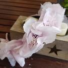 Diadema flores rosa nude