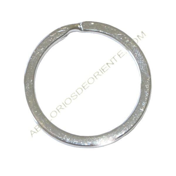 Llavero circular plateado