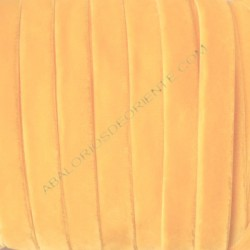 Cinta de terciopelo elástico amarillo