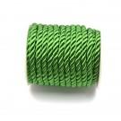 Cordón trenzado de algodón verde esmeralda 4 mm