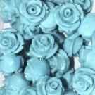 Flor resina turquesa 17 x 9 mm