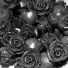 Flor resina negra 17 x 9 mm