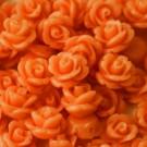 Flor resina naranja 9 x 8 mm