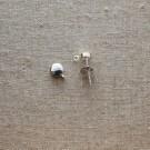 Base para pendientes plano redondo con anilla de plata 925