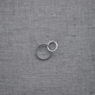 Cadena de plata 925 con dos círculos