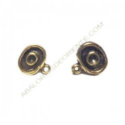 Base de pendiente de metal ovalada bronce