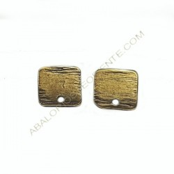 Base de pendiente de metal cuadrada bronce lisa
