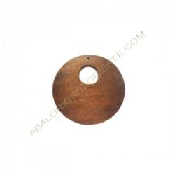 Colgante de madera redondo marrón 50 mm