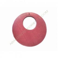 Colgante de madera redondo rojo granate 60 mm