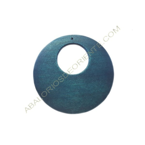 Colgante de madera redondo azul 60 mm