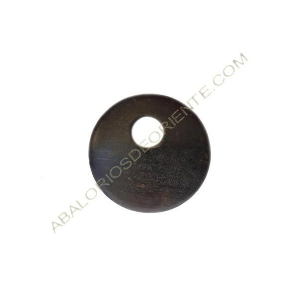 Colgante de madera redondo marrón oscuro 50 mm