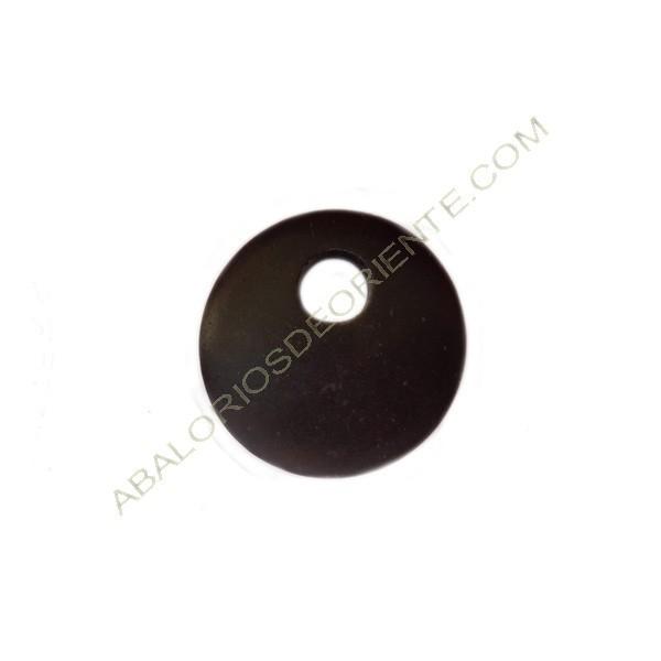 Colgante de madera redondo negro 50 mm