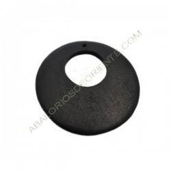 Colgante de madera redondo negro 60 mm