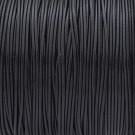 Algodón encerado mate 1 mm negro
