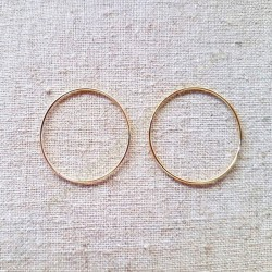 Pendientes de plata 925 aro de 25 mm
