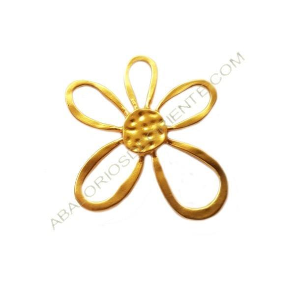 Colgante de aleación de Zinc dorado mate flor 50 x 46 mm