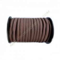 Nailon elástico de 5 mm marrón