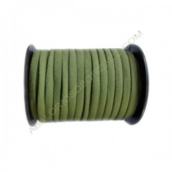 Nailon elástico de 5 mm verde oliva