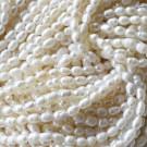 Perla cultivada grano de arroz 6-7 mm blanca
