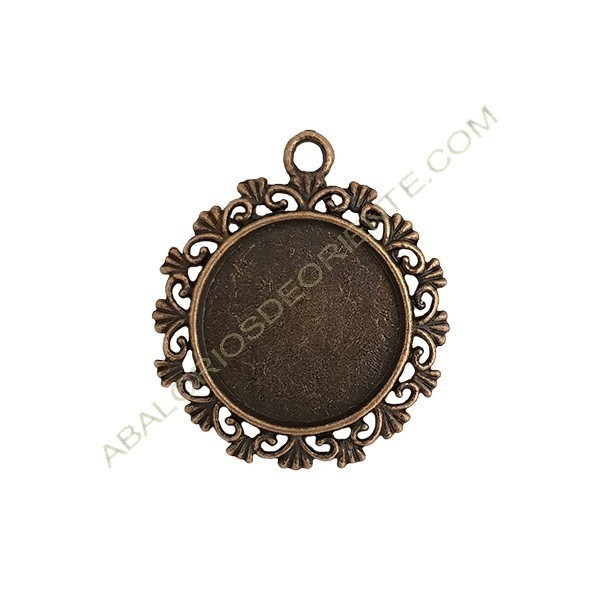 Colgante camafeo metal bronce 30 mm