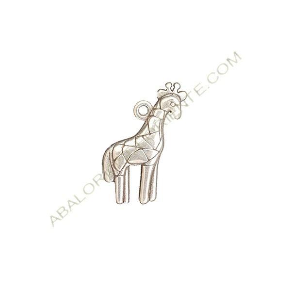 Colgante aleación de Zinc jirafa de 26 x 18 mm plateado